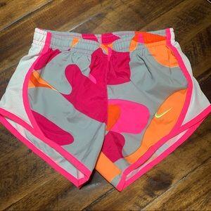 NIKE gray and pink camp dri-fit shorts
